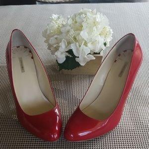 Max Studio Red Patent Heels